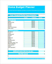 Budget Calculator Spreadsheet by Sle Home Budget Spreadsheet 9 Exles In Xls