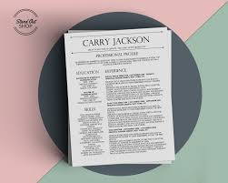 Resume Templates For Mac Pages Carry Jackson Resume Template Stand Out Shop
