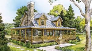 beautiful country home w wrap around porch hq plans metal
