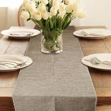 modern table linens graphic geometric grey white linen tablecloth