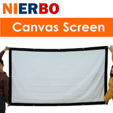 home theater projector screens online shop nierbo 100 inches projector screen wall mount home