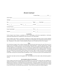 event planning contract templates best business template event