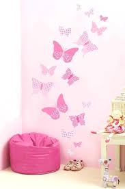 wall sticker decoration ideas pink butterfly wall decals wall