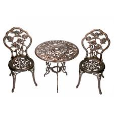 Aluminum Bistro Table And Chairs You Ll The 3 Bistro Set At Wayfair Great Deals