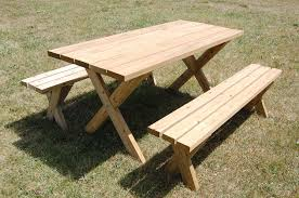 table agreeable sleek picnic table with detached benches 6 steps