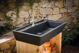 Garden Sink Ideas Outdoor Kitchen Sink Station Photo 7 Ideas Within Designs 4