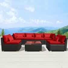 Red Patio Furniture Sets - amazon com modenzi 7g u outdoor sectional patio furniture