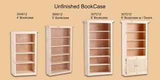 Unfinished Bookcases With Doors Furniture Unfinished Bookcases In The Process Www Texaspcc Org