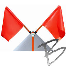 Flag Folded Into Triangle Roll Up Road Sign 36