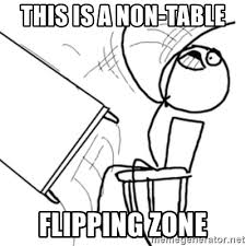 Flip Table Meme Generator - this is a non table flipping zone flip a table2 meme generator