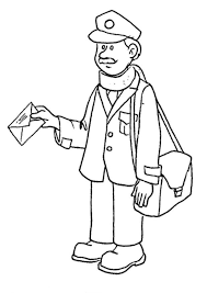 mailman hat coloring page postman 3 coloring page post office pinterest school