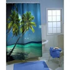 Tropical Curtain Panels Palm Tropical Shower Curtain Foter