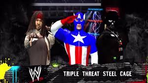 wwe 12 captain america vs jack sparrow vs darth vader steel