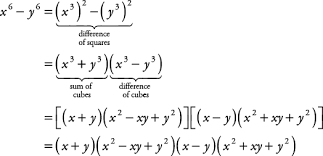 sum or difference of cubes