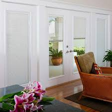 Blinds For Double Doors Odl Enclosed Blinds Built In Door Window Treatments For Entry Doors