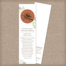 memorial bookmarks birdwatcher memorial bookmarks memorial bookmarks catalog