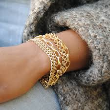 gold multi chain bracelet images Multi strand gold chain bracelet ruth barzel jewelry design jpg