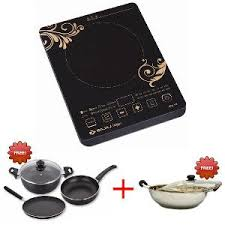 Induction Cooktop Cookware Bajaj Icx18 Induction Cooker Free Kadai With Glass Lid Majesty