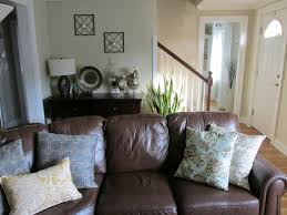 decorating a leather couch house ideas mix of masculine and