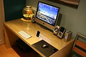 Clean Computer Desk Too Much Clutter On Your Desk Simplify And Give Your Desk A Role