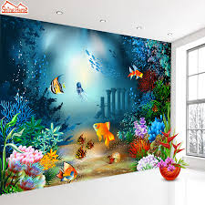 undersea wall murals promotion shop for promotional undersea wall shinehome custom undersea world photo wallpapers 3d contact paper 3d kids girls boys children living room wall murals wallpaper