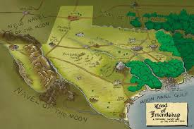 State Of Texas Map Toponymic Fantasy Map Of Texas Vivid Maps