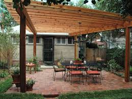 How To Build A Freestanding Patio Roof by How To Build A Wood Pergola Hgtv