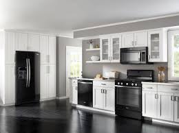 Black Kitchen Cabinets With Black Appliances Oak Cabinet Black Appliances Archives Outofhome