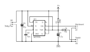 automatic power switch for atx power supplies power supply circuits