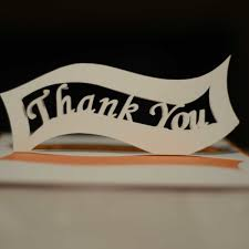 ribbon thank you pop up card template creative pop up cards