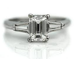 vintage emerald cut engagement rings emerald cut engagement ring 1 46ctw emerald cut vintage