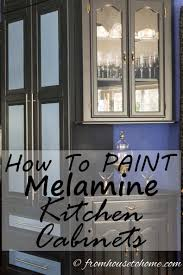 what of paint do you use on melamine cabinets how to paint melamine kitchen cabinets