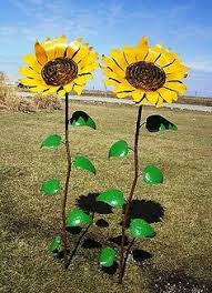 mexican yard garden metal sunflower my style