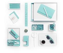 aqua blue desk accessories white with pops of aqua is day at the beach poppin desk