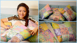 diy bohemian patchwork pillow case using fabric scraps little