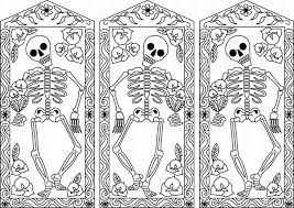printable day of the dead coloring free colouring halloween