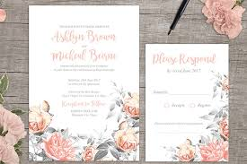 design your own wedding invitations rosa free floral wedding invitation printable from