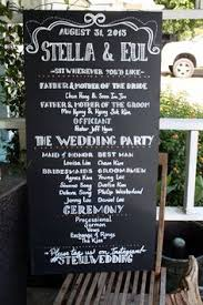 wedding program board chalkboard wedding program sign handmade wedding
