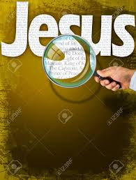 magnifying l with light the name jesus observed with magnifying glass shows the synonyms