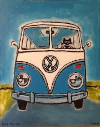 volkswagen bus drawing pete the cat blue vw bus