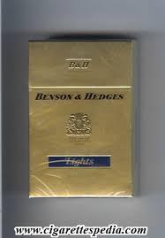 benson and hedges lights ks 20 h gold lights on blue