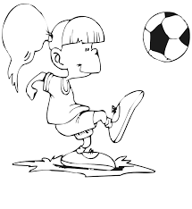 soccer coloring player