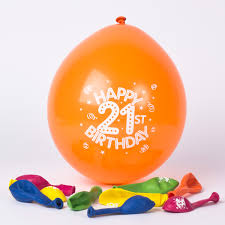 birthday balloons for him 21st birthday balloons from 99p card factory