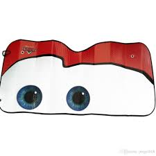 new universal mini cartoon car windshield sun shade big eyes cars