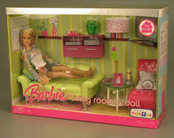 108 2317 barbie living room and doll doll play set play