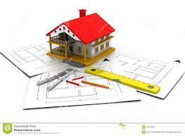 house plan blueprints 3d house on plan blueprints stock illustration image 48763051