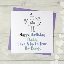 happy birthday daddy love and kicks the bump card s by parsy card