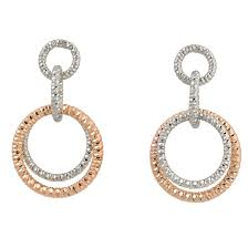 gold plated earrings frederic duclos sterling silver gold plated earrings z s
