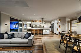 Open Kitchen Dining Room Floor Plans by Japanese Inspired Family House In Burns Beach Perth Australia