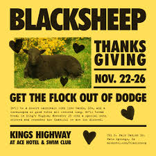 blacksheep thanksgiving weekend ace hotel swim club boutique